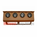 MTS Gauge Panel with Gauges, 1987-1990 Jeep Wrangler YJ, TAN gauge cluster panel