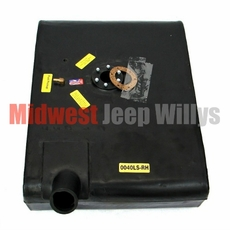 Plastic Gas Tank for Right Hand Mount, fits 1957-1964 Willys Jeep CJ3B with 6 Screw Sending Unit