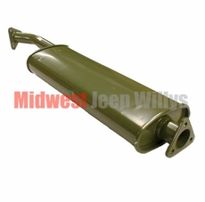 Reproduction Muffler with Flanges for 1950-1966 Willys Jeep M38 and M38A1 Models