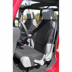 Neoprene Seat Vests, Gray, 07-17 Jeep Wrangler by Rugged Ridge