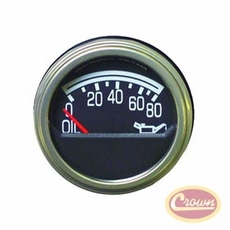 Oil Pressure Gauge, Fits 1979-86 Jeep CJ5, CJ7 & CJ8