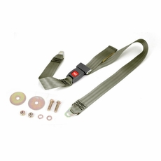 Olive 60 Inch Front or Rear Lap Seat Belt, 1987-95 Jeep Wrangler