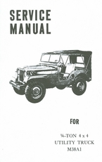 Operation And Organizational Maintenance Manual For M38A1 Utility Truck ( Service Manual )