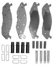 Pad Set Master Kit, Fits 1982-1986 CJ and 1987-1989 Wranglers.