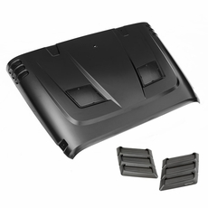 Performance Vented Hood Kit, 07-15 Jeep Wrangler JK by Rugged Ridge