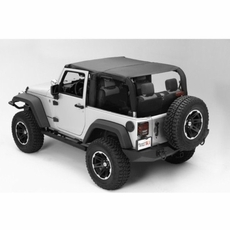 Pocket Island Topper, Black Diamond, 10-17 Jeep Wrangler by Rugged Ridge