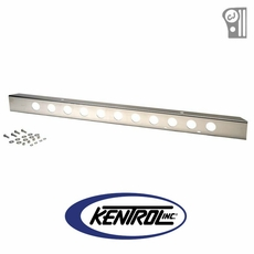 "Polished Stainless Steel 54"" Front Bumper with holes fits 1945-1986 Jeep CJ Models by Kentrol"