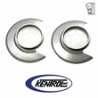 Polished Stainless Steel Disc Brake Dust Cover Set fits 1976-1978 Jeep CJ Models by Kentrol
