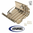 Polished Stainless Steel Gas Tank Skid Plate w/strap fits 1955-1990 Jeep CJ & YJ Wrangler by Kentrol