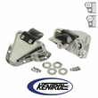 Polished Stainless Steel Interior Door Latch Bracket Set fits 1981-1995 Jeep CJ & YJ Wrangler by Kentrol