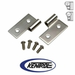 Polished Stainless Steel Lower Door Hinge Set fits 1976-2006 Jeep CJ, Wrangler YJ, & TJ by Kentrol