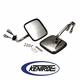 Polished Stainless Steel Mirror Kit fits 1955-1986 Jeep CJ Models by Kentrol