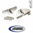 Polished Stainless Steel Windshield Hinge Set fits 1976-1995 Jeep CJ & YJ Wrangler by Kentrol