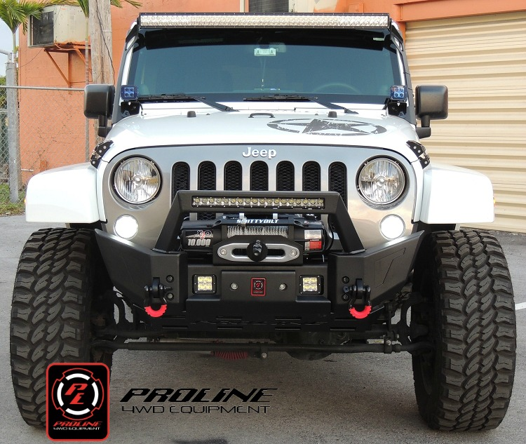 jeep wrangler jk front elite x bumper with led mount midwest jeep. Cars Review. Best American Auto & Cars Review