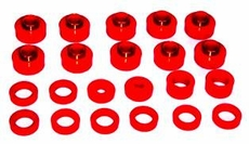 Prothane Body & Cab Mount Bushing Kit for Jeep 1955-75 CJ (14 PCS), RED