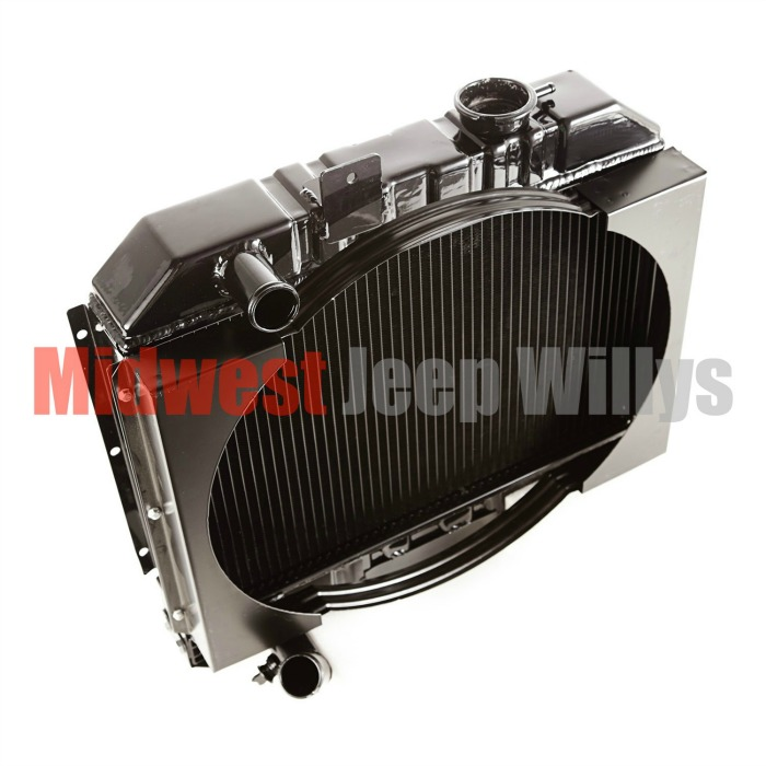 Jeep Part 640145 Radiator, 2 Row With Shroud, 1941-1945 MB