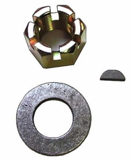"Rear Axle Nut Kit.  Includes Nut, Washer and Axle Key.  Fits 1976-1986 CJ's with ""AMC"" Model 20 Rear Axles"