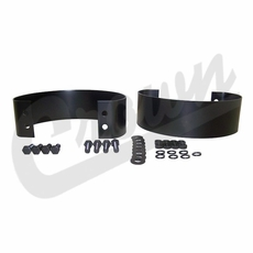 Black Rear Bumperette Kit for 1976-1986 Jeep CJ, 1987-1995 Wrangler YJ Models