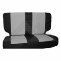 Rear Seat Cover & Belt Cover Set, Black & Gray, 2003-06 Wrangler TJ