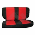 Rear Seat Cover & Belt Cover Set, Black & Red, 2003-06 Wrangler TJ