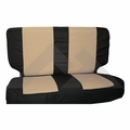 Rear Seat Cover & Belt Cover Set, Black & Tan, 2003-06 Wrangler TJ