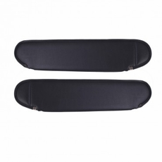 Replacement Sun Visors, Charcoal, 87-95 Jeep Wrangler by Rugged Ridge