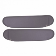 Replacement Sun Visors, Gray, 87-95 Jeep Wrangler by Rugged Ridge