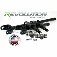 Revolution Gear & Axle 2007-2017 Jeep Wrangler JK Sahara & X Model, US Made D30 Front Axle Kit, 27 Spline