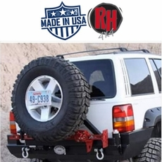 Rock Hard 4x4 1993-1998 Jeep Grand Cherokee ZJ Rear Bumper and Tire Carrier
