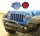 Rock Hard 4x4 2007-2017 Jeep JK Wrangler Patriot Series Full Width Front Bumper