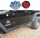 "Rock Hard 4x4 2007-2017 Jeep JK Wrangler Patriot Series ""Boat Side"" Rock Sliders w/ Smooth Plate 4-Door"