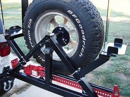 Rock Hard 4x4 Patriot Series Rear Bumper with Tire Carrier for 1976-2006 Jeep Wrangler TJ, LJ, YJ and CJ