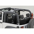 Roll Bar Cover, Black Polyester, 07-17 Jeep Wrangler by Rugged Ridge
