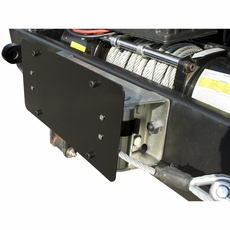 License Plate Mounting Bracket for Roller Fairleads by Rugged Ridge