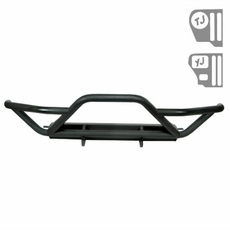 RRC Front Bumper With Grille Guard, Black, 87-06 Jeep Wrangler by Rugged Ridge