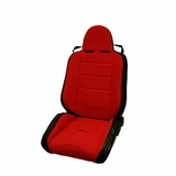 RRC Off Road Racing Seat, Reclinable, Red, 76-02 Jeep CJ and Wrangler by Rugged Ridge