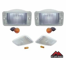RT Off-Road Clear Marker & Turn Signal Lens Kit, 1997-2006 Jeep Wrangler TJ