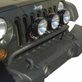 Bumper Mounted Light Bar, Textured Black, 07-17 Jeep Wrangler by Rugged Ridge