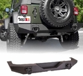 XHD Rear Bumper, Textured Black, 07-17 Jeep Wrangler by Rugged Ridge