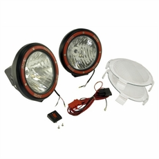5-Inch Round HID Off Road Light Kit, Black Composite Housing by Rugged Ridge