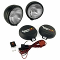 5-Inch Round HID Off Road Fog Light Kit, Black Steel Housing by Rugged Ridge