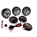 6-Inch Round HID Off Road Fog Light Kit, Black Steel Housing by Rugged Ridge