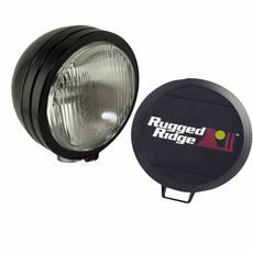 6-Inch Round HID Off Road Fog Light, Black Steel Housing by Rugged Ridge
