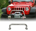 Over Rider Center Hoop, XHD Modular Front Bumper, Stainless Steel by Rugged Ridge