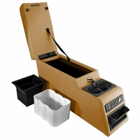 Rugged Ridge Spice Color Ultimate Locking Console, fits 1976-1995 Jeep CJ and Wrangler