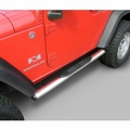 4 1/4-inch Oval Side Steps, Stainless Steel, 07-17 Jeep Wrangler by Rugged Ridge