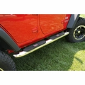 4-inch Round Step, Stainless Steel, 07-17 Jeep Wrangler Unlimited by Rugged Ridge