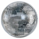 Sealed Beam Headlight, 6 volt, Fits 1945-57 Jeep & Willys Models
