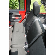 Neoprene Rear Seat Cover, Black, 07-17 Jeep Wrangler by Rugged Ridge