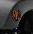 Side Marker Light Euro Guards, Black, 07-17 Jeep Wrangler by Rugged Ridge